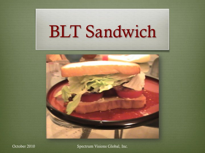BLT Sandwich Visual Recipe