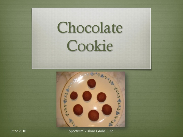 Chocolate Cookie Visual Recipe