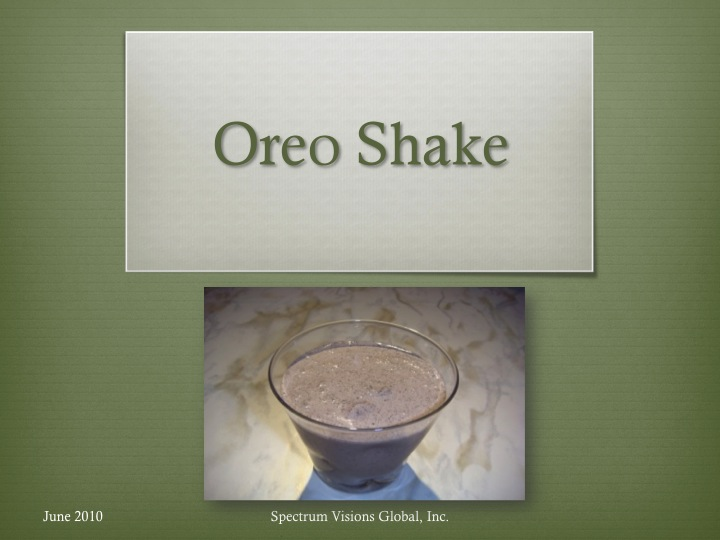 Oreo Shake Visual Recipe
