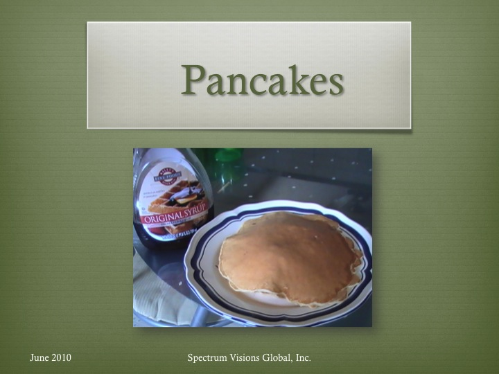 Pancakes Visual Recipe