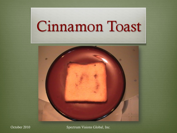 Cinnamon Toast Visual Recipe