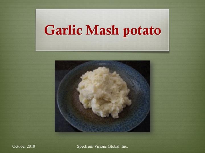 Garlic Mash Potato Visual Recipe