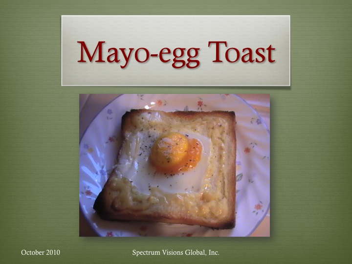 Mayo Egg Toast Visual Recipe