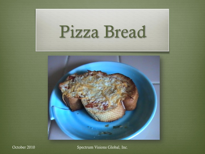 Pizza Bread Visual Recipe