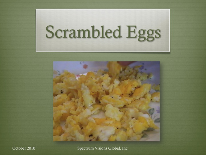 Scrambled Eggs Visual Recipe